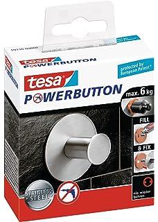Universal Small silber-gl/änzend Tesa Powerbutton Haken