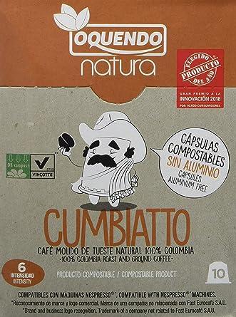 Natura Cumbiatto, Cápsulas de café (Compatibles con Nespresso) - 7 de 10 cápsulas
