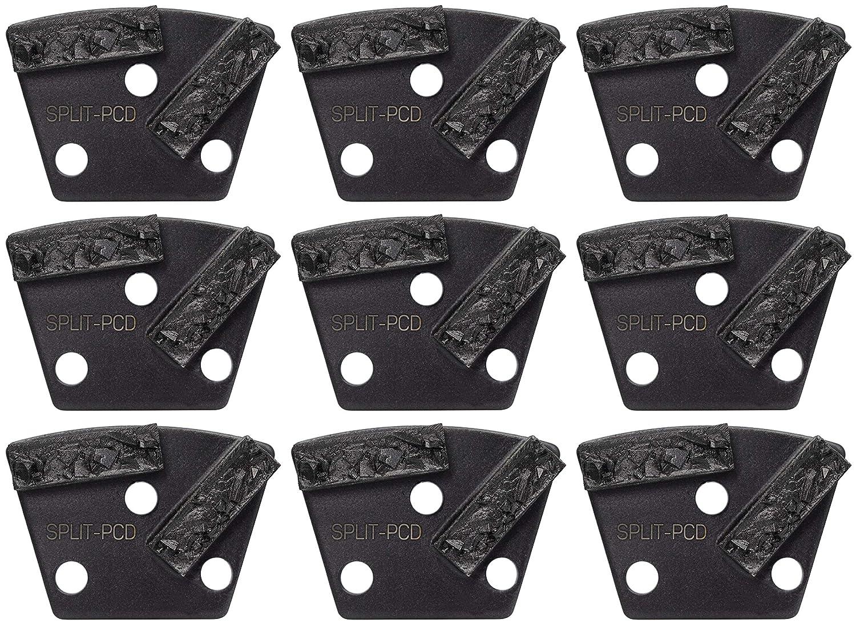 Dragon Tooling 6 Pack 12mm Segments Double Bar Split PCD Grinding//Polishing Trapezoids