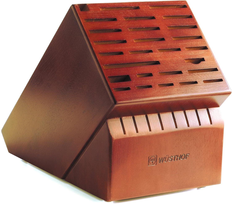 amazoncom wusthof 35 slot storage block cherry knife blocks kitchen u0026 dining