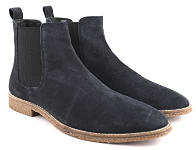 Freacksters Men s Suede Leather Chelsea Boots Blue  Buy Online at ... d29d5abae2