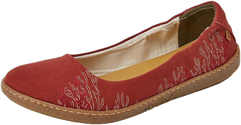Rouge (Caldera) El El Naturalista N5300, Sandales Bout fermé Femme