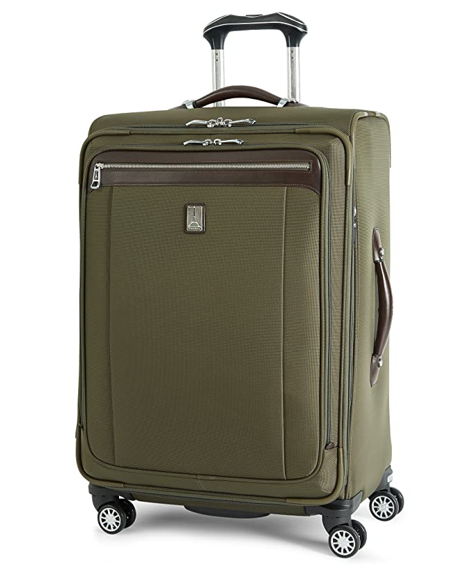 Travelpro Platinum Magna 2 Expandable Spinner Suiter Suitcase, 25 In, Olive by Travelpro