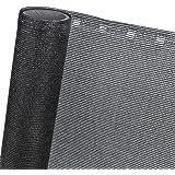 ZAUNBLENDE 85% in 1,5m Breite Sichtblende Schattiernetz in schwarz (Meterware)
