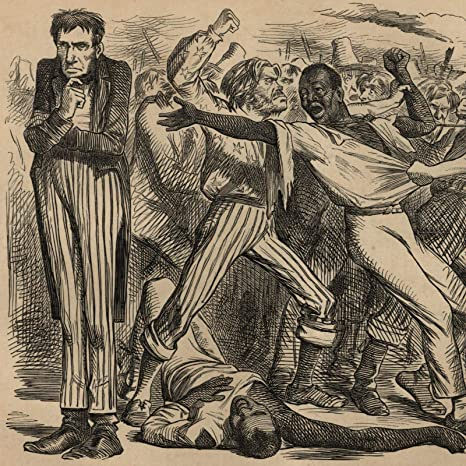 Amazon Com Abraham Lincoln Political Cartoon 1863 Slavery Issue