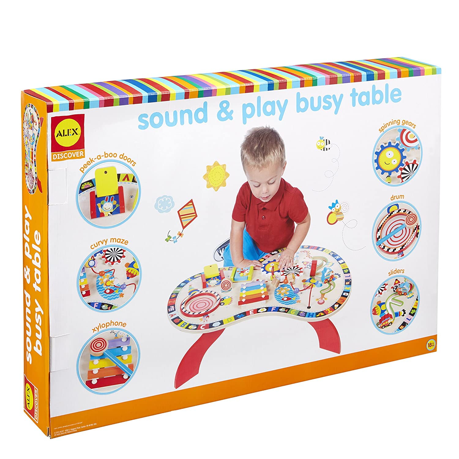 8a273481f ALEX Toys - Junior Sound and Play Busy Table Baby Activity Center ...
