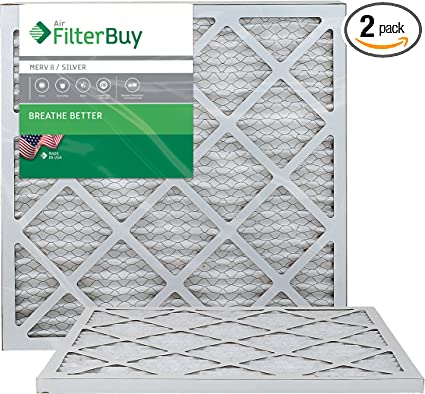 Silver 20x22x2 Pack of 4 Filters FilterBuy 20x22x2 MERV 8 Pleated AC Furnace Air Filter,