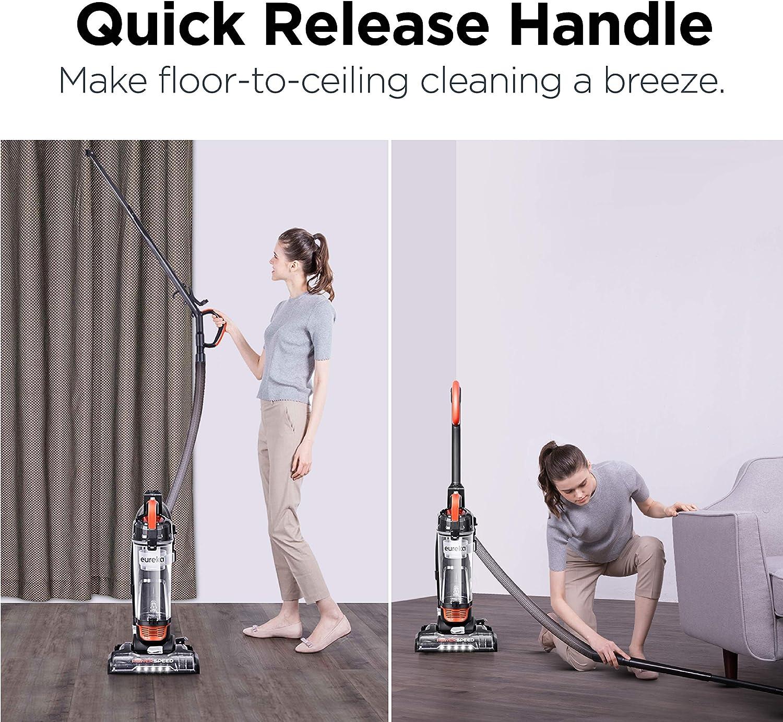 Eureka Power Speed Turbo Spotlight Bagless Upright Vacuum Cleaner, Pet Tool, Orange, NEU188A -
