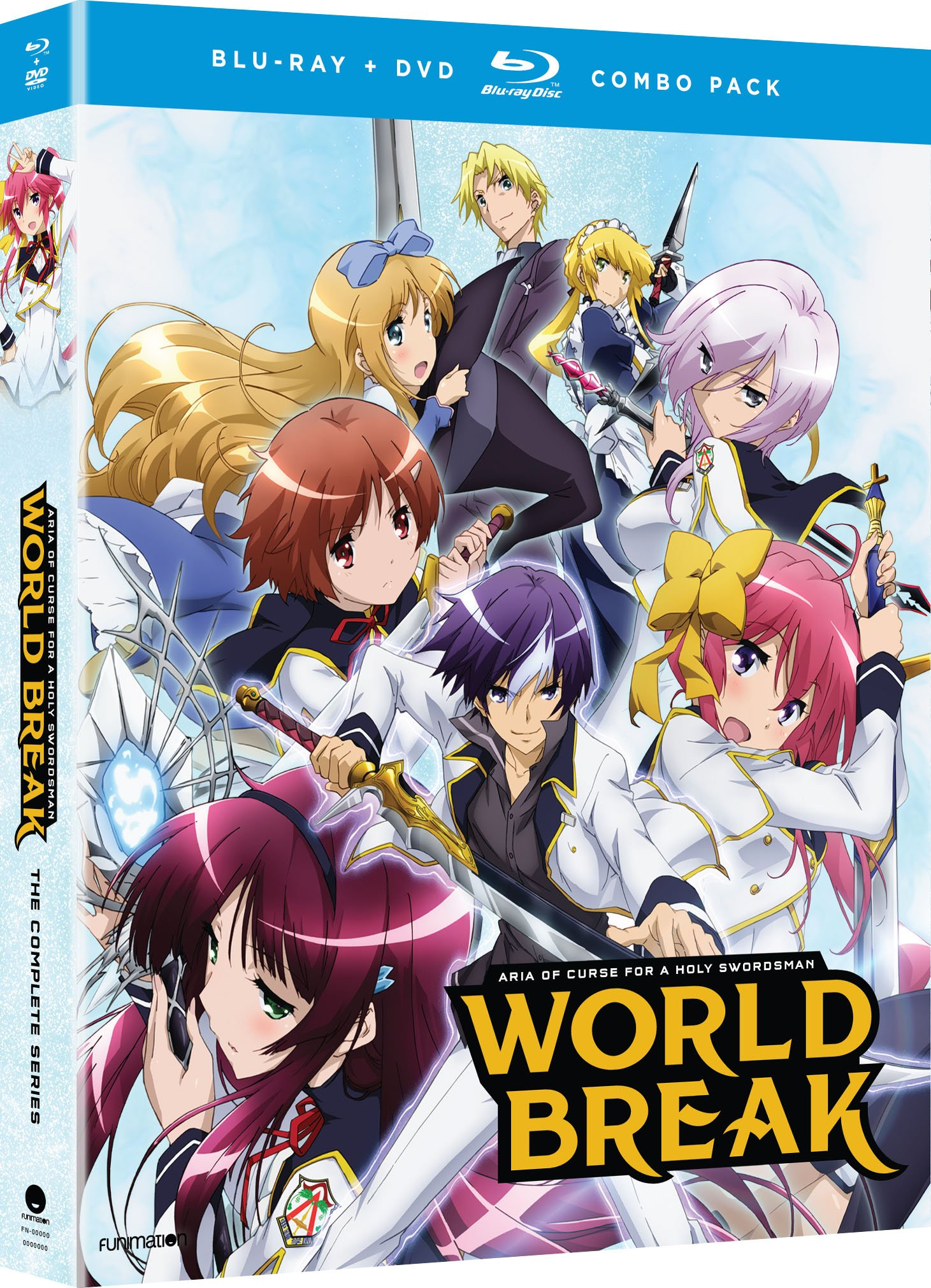 Blu-ray : World Break: Aria of Curse for a Holy Swordsman: The Complete Series (With DVD, Boxed Set, 4 Disc)