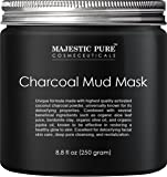 Majestic Pure Activated Charcoal Mud Mask, Pore Refining Facial Mask for Men and Women Helping the Face Feel Fresh and Smooth, 8.8 fl oz