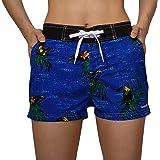 Meegsking Bañador para Mujer-Shorts de baño de Secado Rápido Shorts de Tablero con Forro Suave