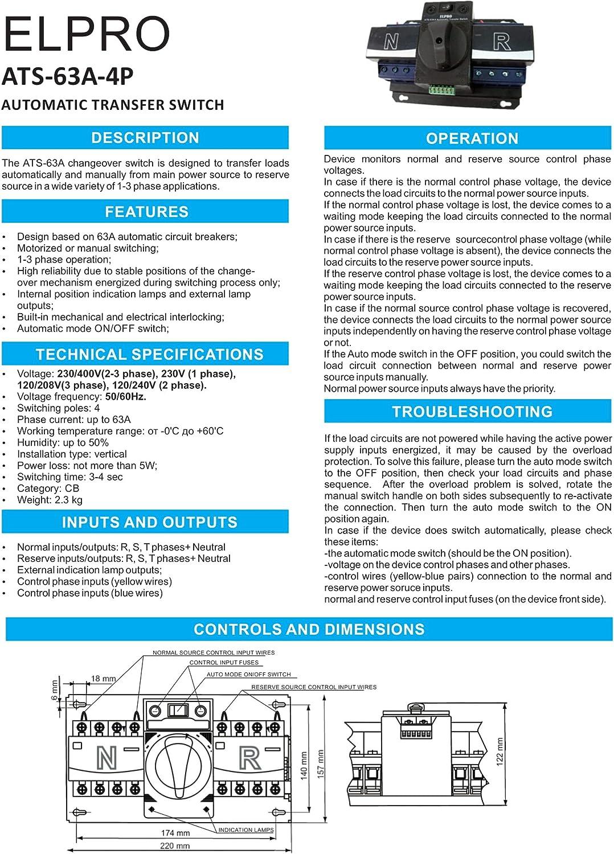 Single Phase Manual Transfer Switch Wiring Diagram ...