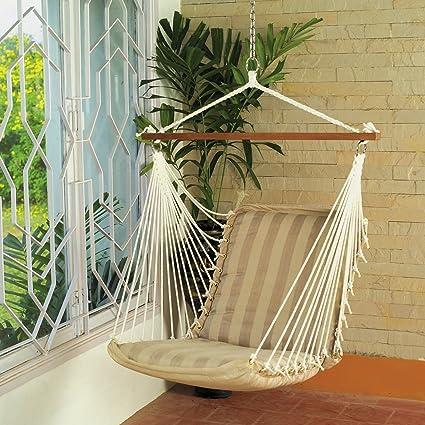 Oak N Oak Comfortable & Relaxing Indoor & Outdoor Hanging Chair Furniture,Tropical Palm Stripe