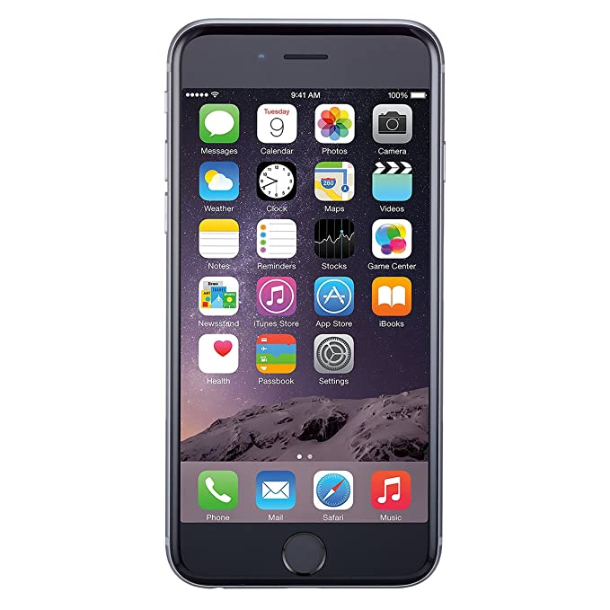 reputable site 79301 c50cc Apple iPhone 6, GSM Unlocked, 64GB - Space Gray (Renewed)