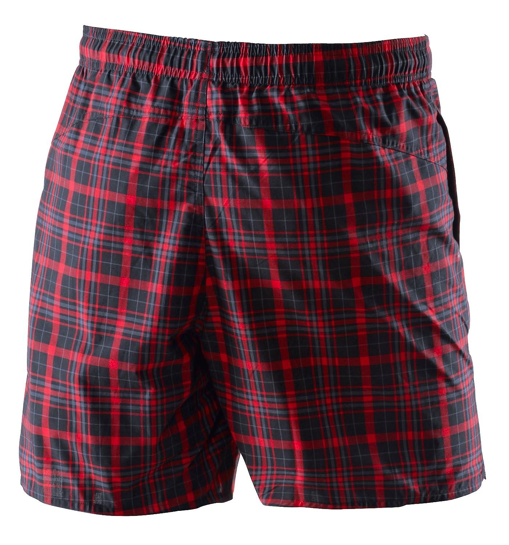 adidas Men's Yarn Dye Check Sporty Length Bathing Shorts
