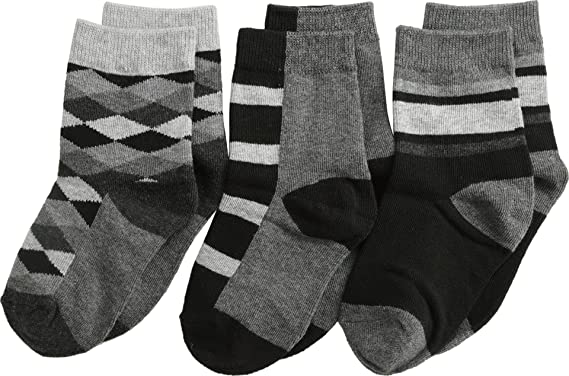 2b84e68b258 Jefferies Socks Baby Boy s Argyle Stripe Crew Socks 3 Pack (Toddler Little  Kid