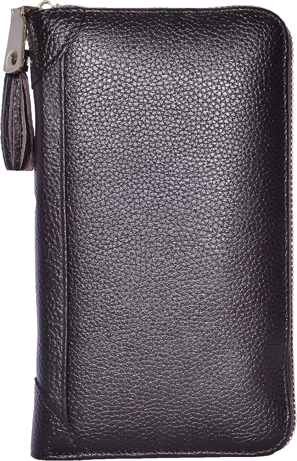 Easyoulife Credit Card Holder Wallet Womens Zipper Leather Case Purse RFID Blocking
