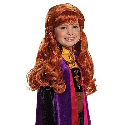 Disguise Disney Anna Frozen 2 Girls' Wig: Toys & Games