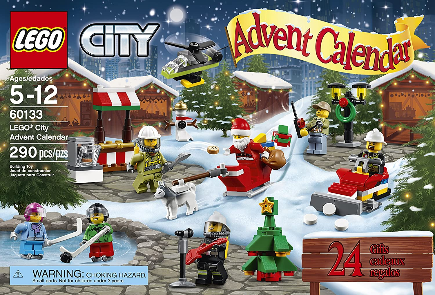 LEGO City Town 60133 Advent Calendar Building Kit 290 Piece Discontinued by Manufacturer 6137211