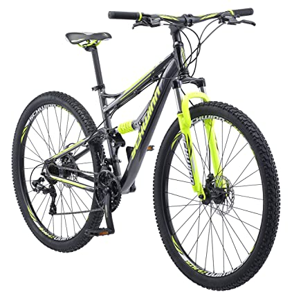 Dual Suspension Mountain Bikes With Free 14 Day Test Ride >> Schwinn Traxion Full Dual Suspension Mountain Bike Featuring 18 Inch Medium Aluminum Frame And 29 Inch Wheels With Mechanical Disc Brakes 24 Speed