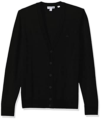 ff00493a3 Lacoste Men s Classic Lambswool Cardigan Sweater Tone Croc at Amazon Men s  Clothing store