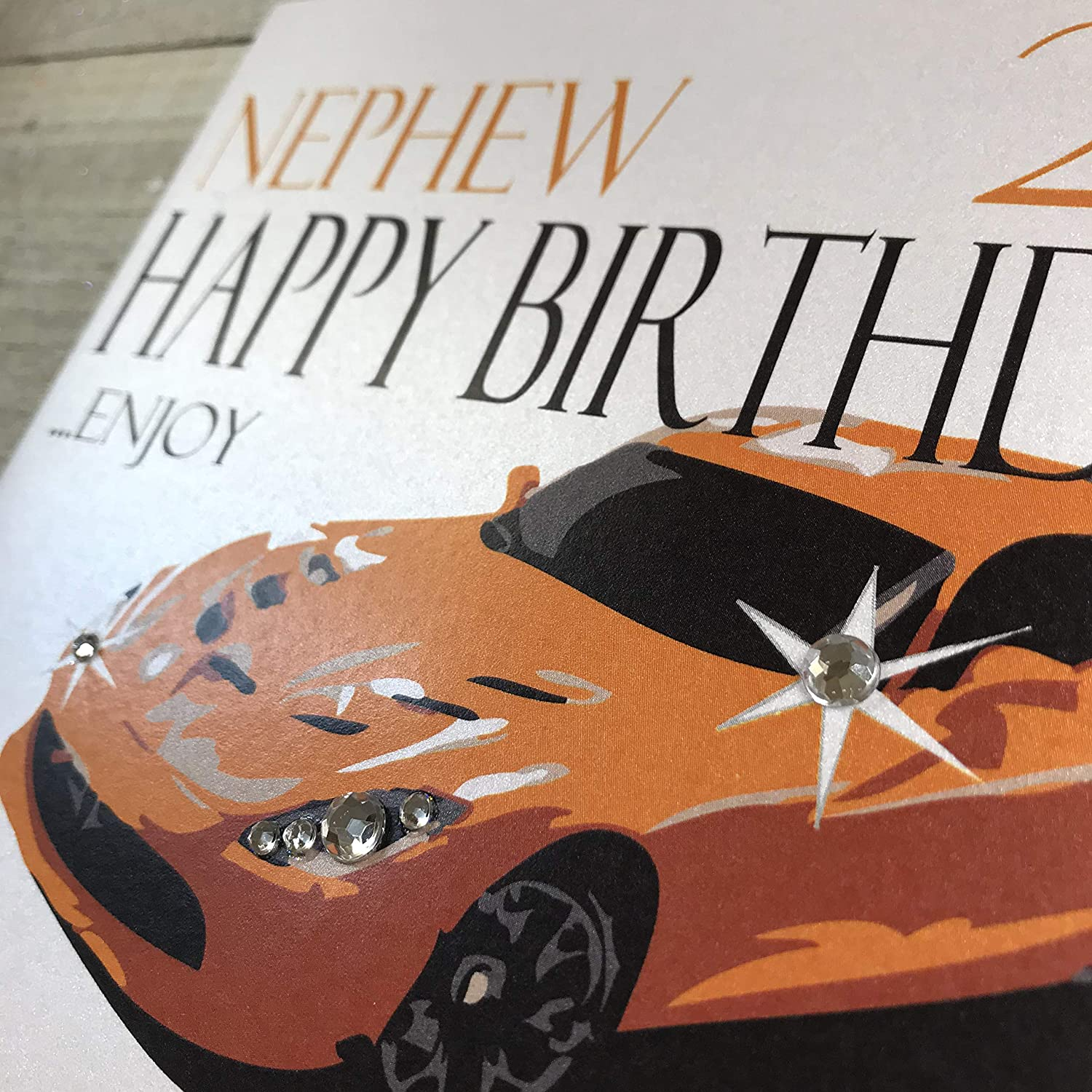 Happy 21st birthday card for Brother  red sports car Clinton's  S689