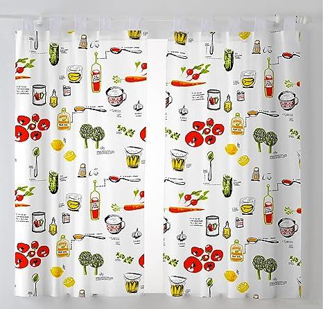 Modelos De Cortinas Para Cocina | Martina Home Pack 2 Cortinas Con Visillo Para Cocina Modelo Vino