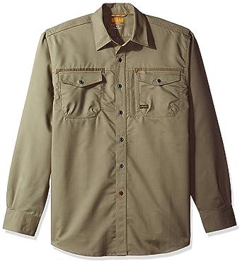 3c9749e89608 Ariat Men's REBAR Long Sleeve Work Shirt, Brindle, Large at Amazon Men's  Clothing store: