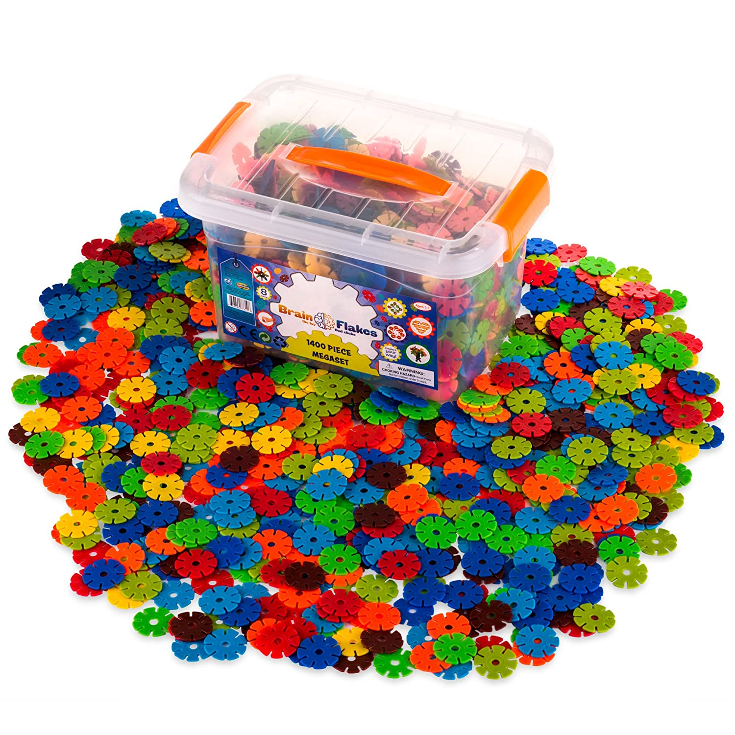 Creative Kids Brain Flakes – Large 1400 Piece Interlocking Plastic Disc Set for Safe, Fun, Creative Building – Educational STEM Construction Toy for Boys & Girls - Non Toxic – Ages 3 and Up Review