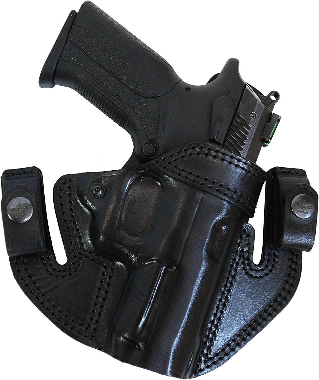Details about  /Alamo San Antonio Black Leather Holster Fits 1911 Series Colt Gov't Commander