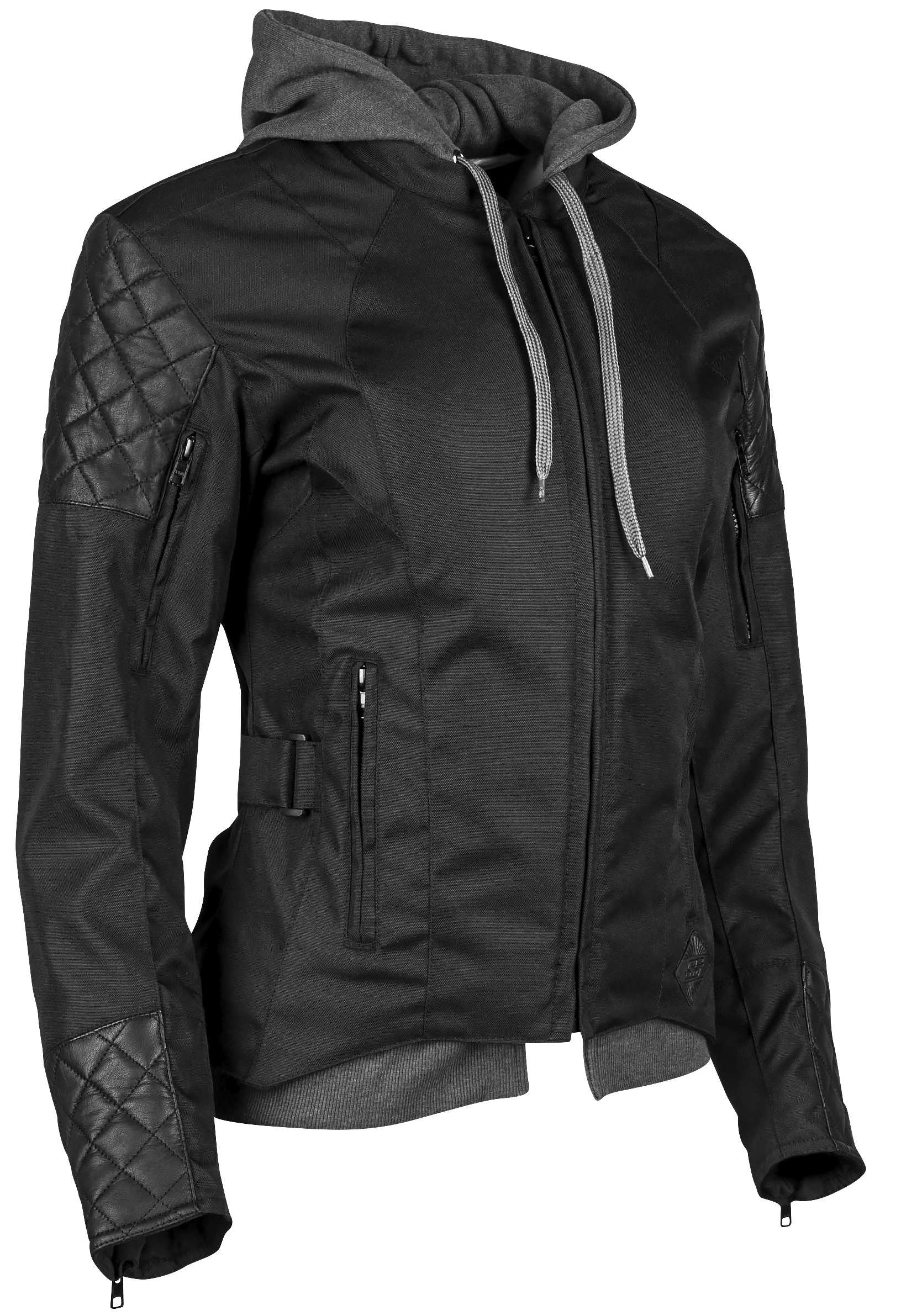 Speed and Strength Women's Women's Double Take Black Textile/Leather Jacket 884305
