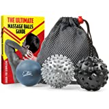 Massage Balls Set of 3 – Muscle Recovery Trigger Point Deep Tissue Massage Ball kit – Myofascial Release Therapy Handheld Massager Lacrosse Ball – Roller Ball Massager for Runners, Athletes & Yoga