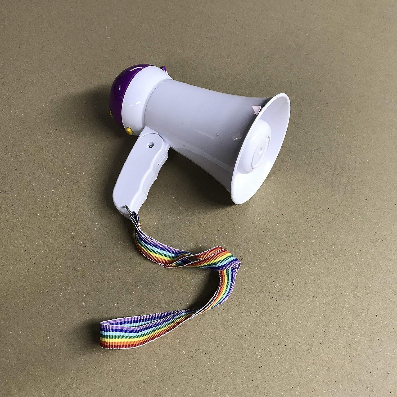 Mini 15 * 10 CM Mini Meg/áfono Altavoz Profesional port/átil con Ajuste de Volumen Sirena grabadora y Mango Plegable