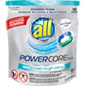 36-Count All Powercore Pacs Laundry Detergent Plus Removes Tough Odors