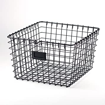 Superb Spectrum Diversified Wire Storage Basket, Medium, Industrial Gray