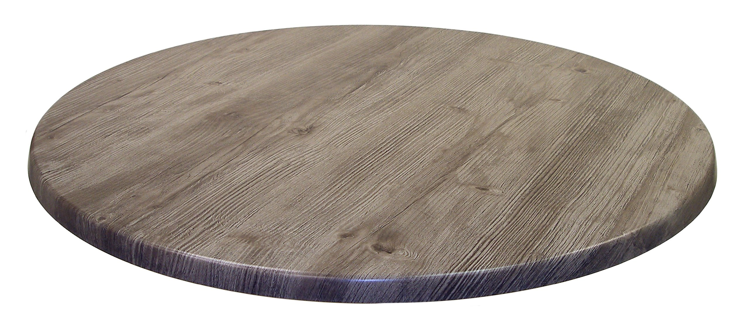 ATC Werzalit Wood-Look All-Weather Table Top, 42'' D, Ponderosa Grey