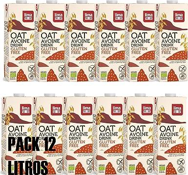 LIMA - Bebida sustitutiva de la leche original bIOLÓGICa - ECO-Pack 12 unidades de 1 litro (Avena Sin Gluten): Amazon.es: Alimentación y bebidas