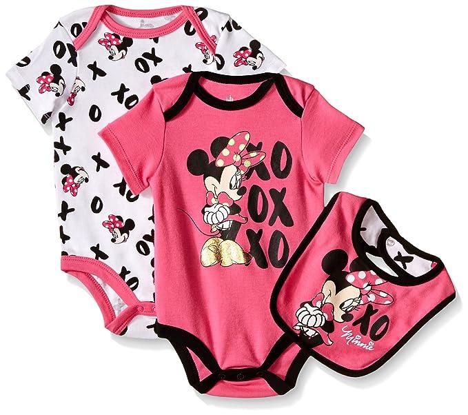 Amazon.com: Disney, traje de bebé con babero, diseño de ...