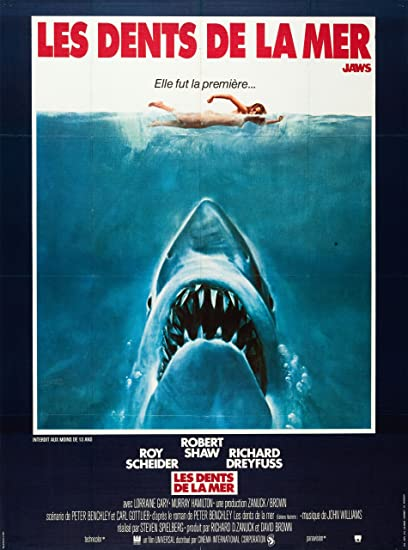 Jaws French Title Reproduction Movie Poster 40 X 30 Cm