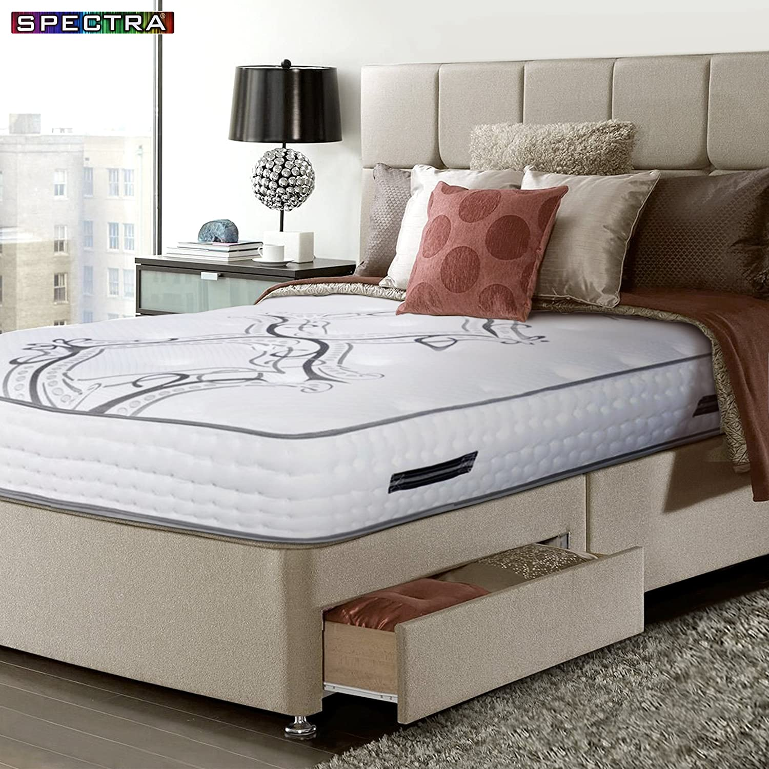 """Spectra Orthopedic Double-Sided 13.5"""" Firm Independent Pocket Coils Mattress"""