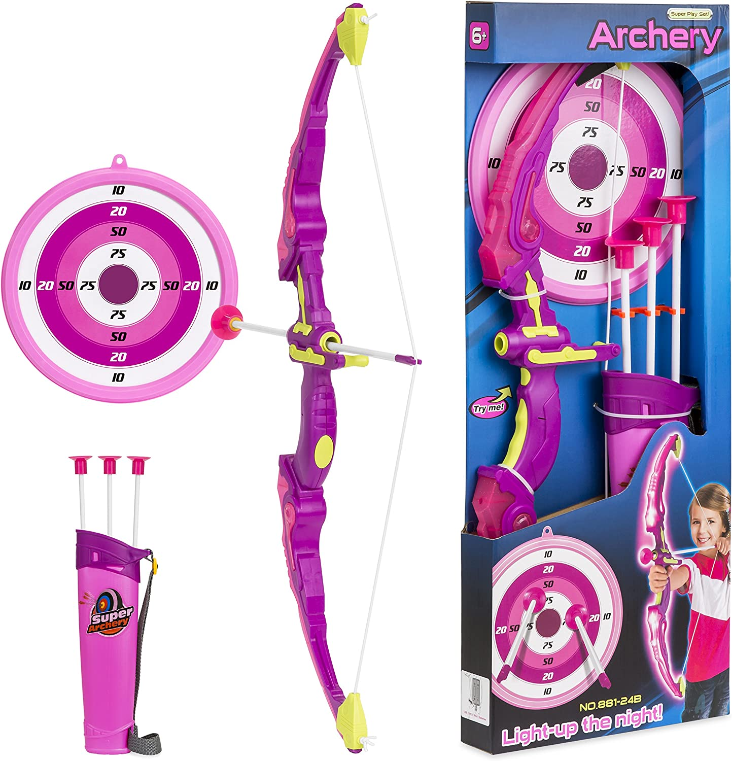 Kids Archery Set Light Up the Night Action Toy Children Toys Gift Item