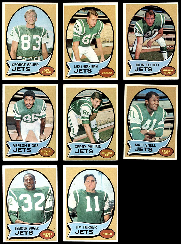 1970 Topps New York Jets Team Set w/o Namath New York Jets (Baseball Set) Dean's Cards 6 - EX/MT Jets 913WXjMvAZL