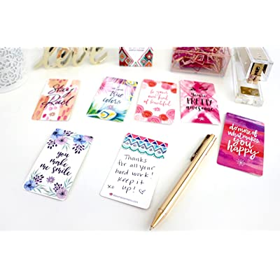 bloom daily planners Belief Card Deck - Cute Inspirational Quote Cards - Just Because Cards - Set of THIRTY 2' x 3.5' Cards - Assorted Designs