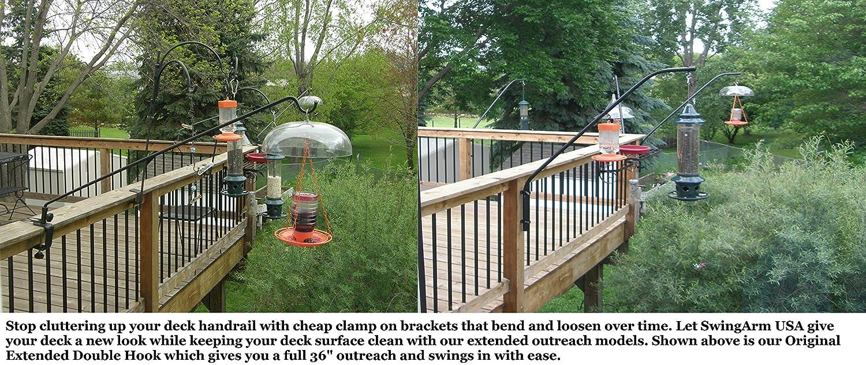 metal vigoro p black mount plant hangers bird the decks in hook depot home feeder for deck