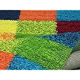 Teppich bunt hochflor  Hochflor Langflor Teppich Amalfi Bunt in 4 Größen: Amazon.de ...