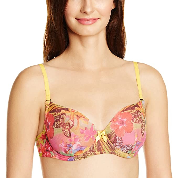 17d32f281646e Enamor Hawaii Print Padded Wired Bra - 38C  Amazon.in  Clothing ...