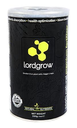 Lordgrow - Bioestimulante ecológico. Certificado para uso Orgánico. Fertilizante de alto rendimiento. Rinde hasta 120L.