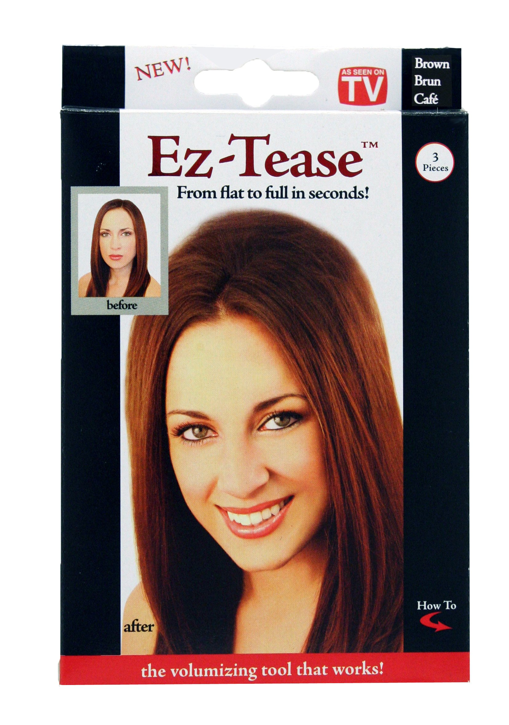 Mia Ez-Tease, Hair Volumizing Inserts, Grippit Material, Will Not Fall Out, Bump Up Your Hair, Blonde, for Women, Stylists, Teens, Girls 3 pcs by Mia Beauty (Image #2)