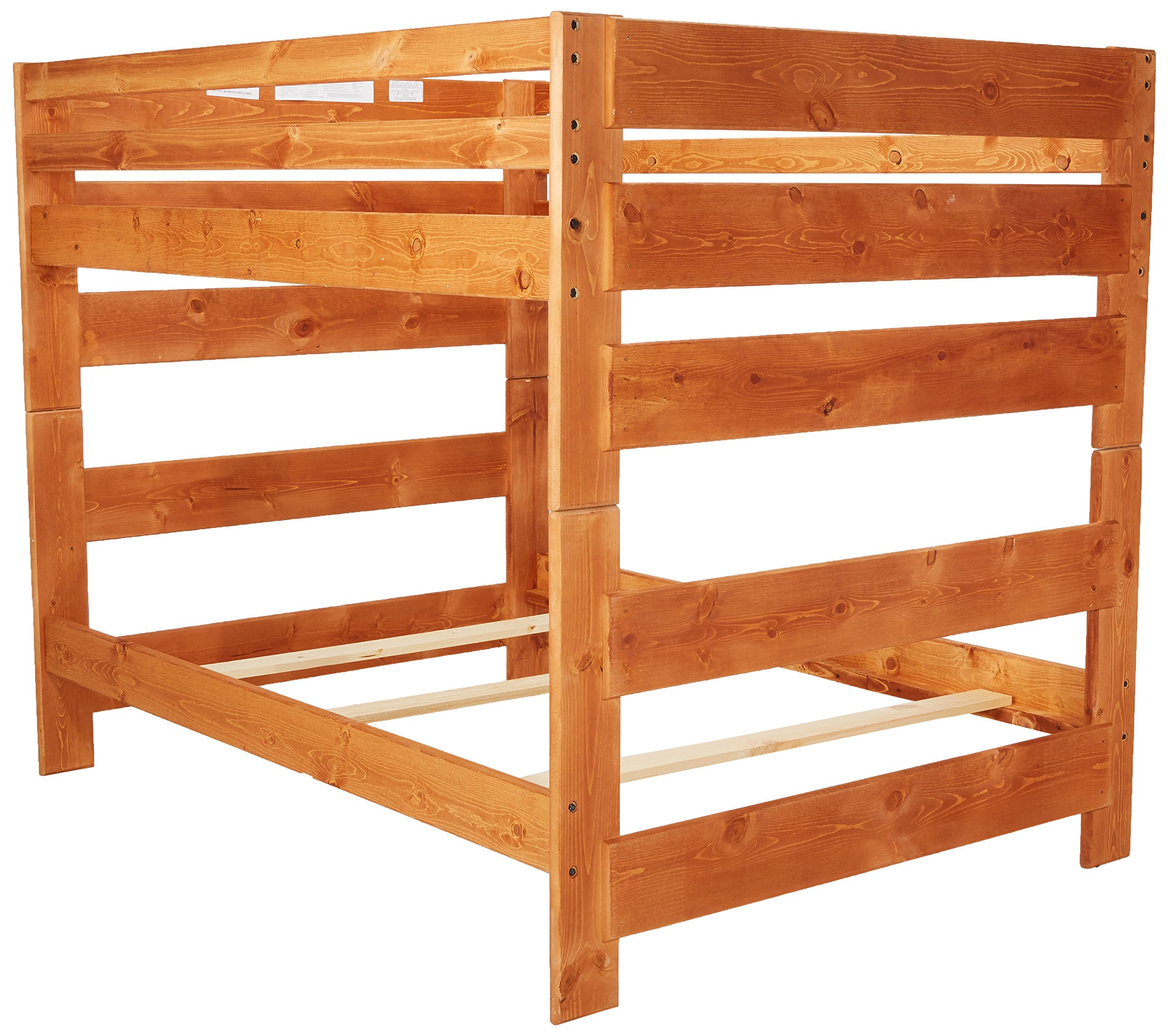 Coaster Home Furnishings  Wrangle Hill Modern Rustic Bunk Bed ( Made in USA ) - Full over Full - Amber Wash