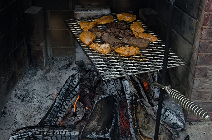 Amazon.com: Heavy Duty grande Campfire Grill, totalmente ...